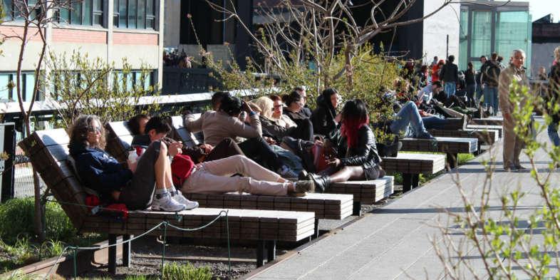 Espreguiçadeiras do High Line
