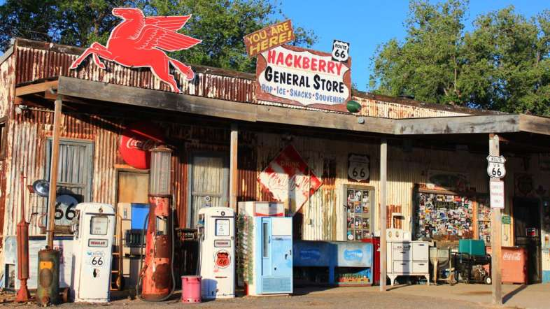 Hackberry General Store em Kingman, Arizona, famosa parada da Rota 66
