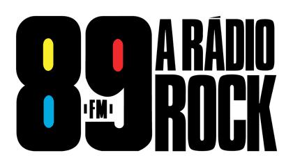 Clássico logotipo da 89 FM, a Rádio Rock
