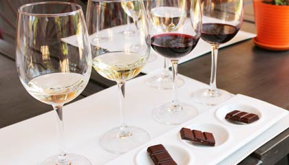 Degustação de vinhos e chocolates na vinícola orgânica Emiliana - Capa