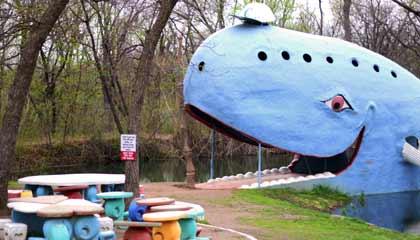 A grande baleia azul de Catoosa, Oklahoma - Capa