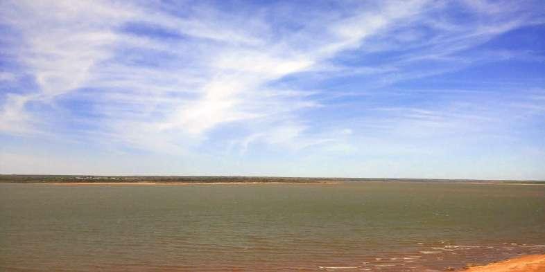 A represa do Parque Estadual de Foss em Oklahoma