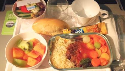 Jantar vegetariano da Aeromexico no voo entre Guarulhos e Orlando - Capa