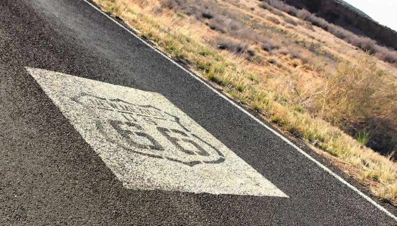 O trecho da Rota 66 no Novo México é possivelmente o mais bem sinalizado de todo o percurso