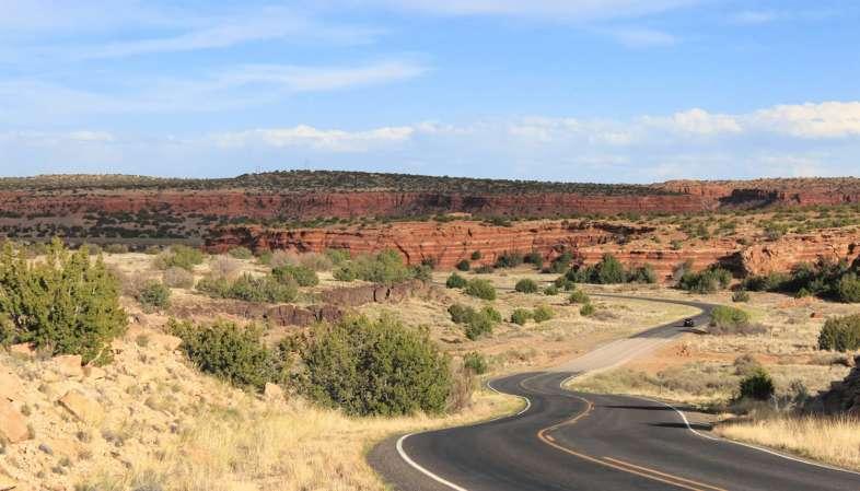 O trecho da Rota 66 no Novo México é um dos mais cênicos de toda a estrada