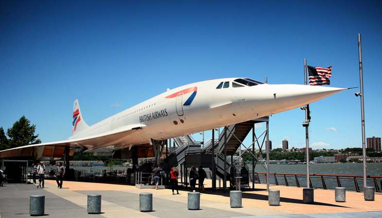 Também está em exposição no Intrepid Museum um Concorde da British Airways
