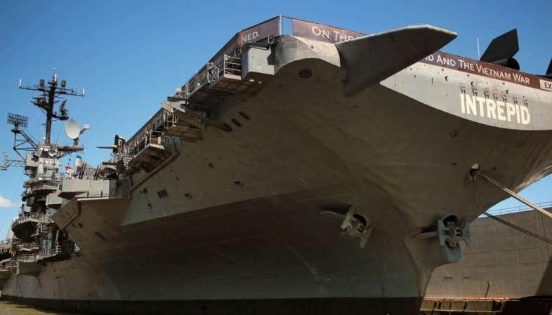 U.S.S. Intrepid, o porta-aviões que virou museu, o Intrepid Museum em Nova York