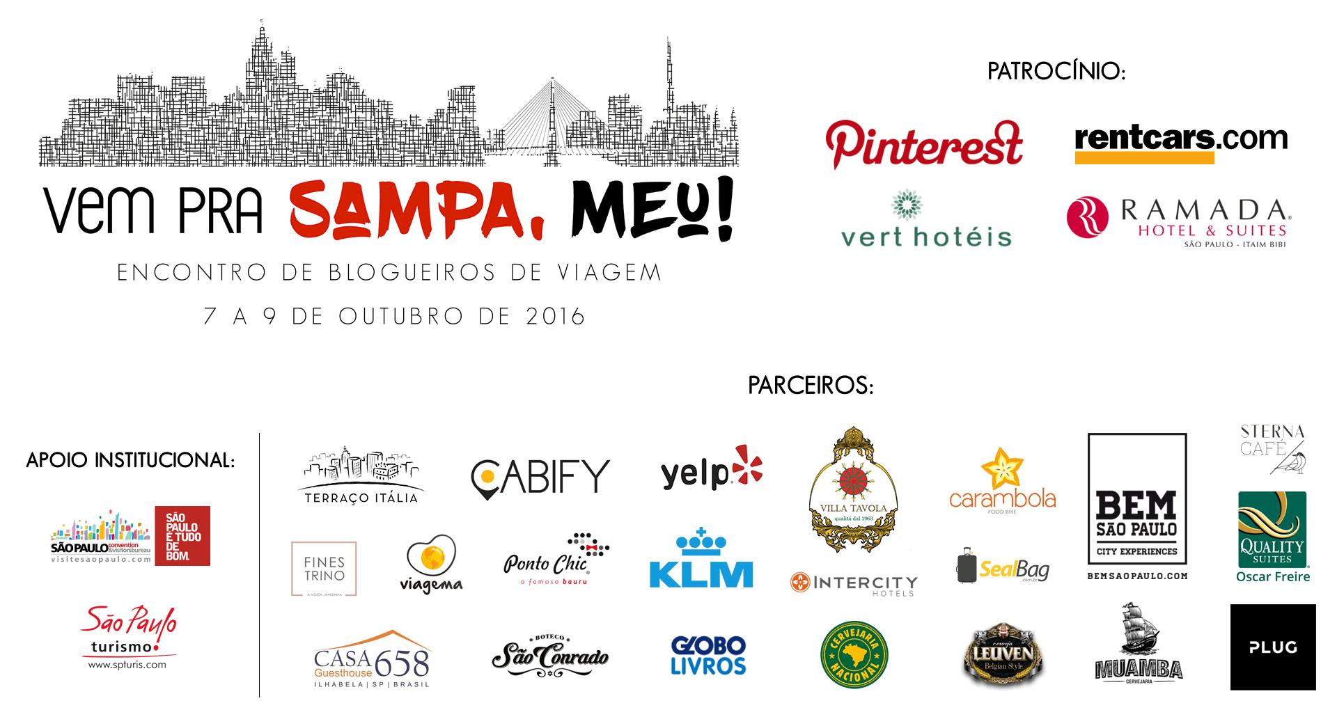 Relação dos parceiros do Vem pra Sampa, meu! 2016