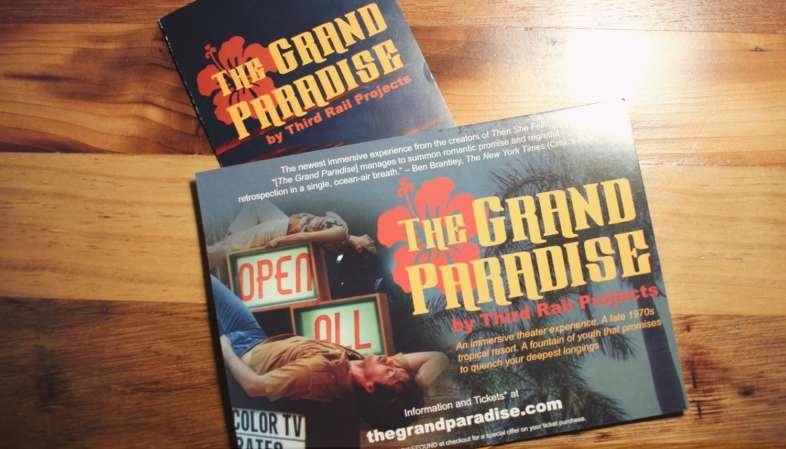 Folheto da peça The Grand Paradise em cartaz em Nova York