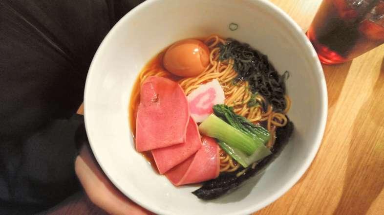 Uma das opções de lamen do Tan Tan Noodle Bar em Pinheiros