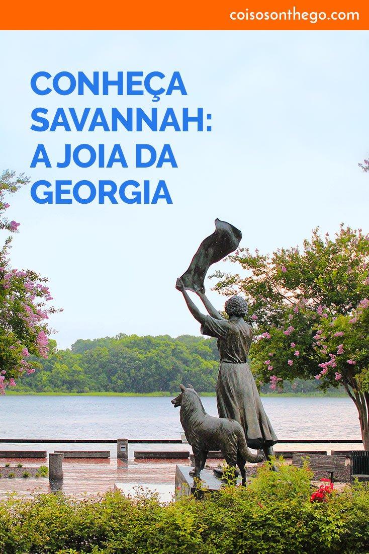 Estátua de Florence Martus no Morrell Park, na orla do rio Savannah