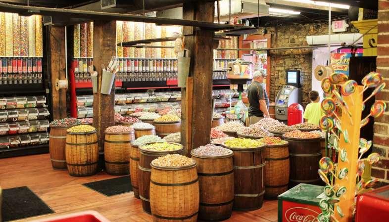 Loja de doces na River Street em Savannah