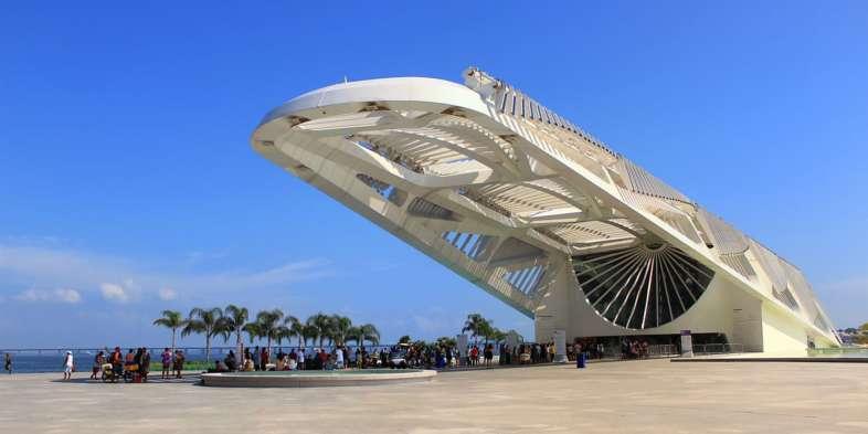 O Museu do Amanhã e sua imponente cobertura no Boulevard Olímpico a poucos minutos do Belga Hotel